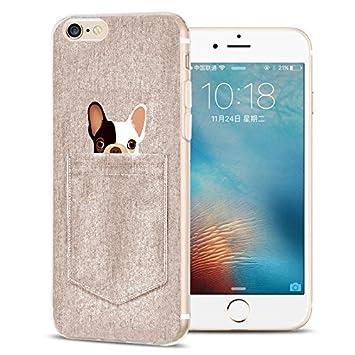 Funda carcasa iPhone 6 / 6S, perro de bolsillo gris ...