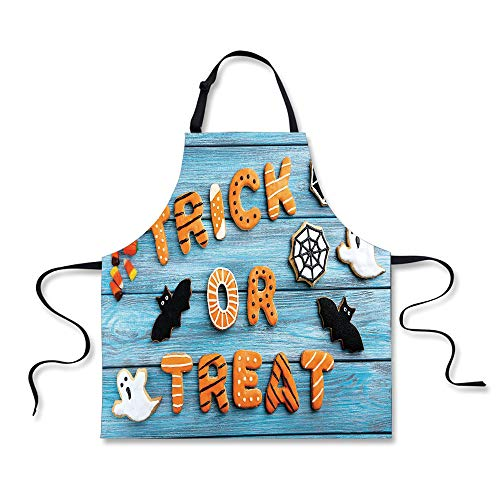 iPrint Personality Apron,Vintage Halloween,Trick or Treat Cookie Wooden