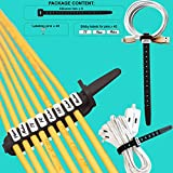 Reusable Cable Tie Organizers – 8-Pack Cable Tie Set – Includes 40 Pins 45 Stickers Easy Identification – Separates Labels Wires – Practical User-Friendly – Silicone-Black