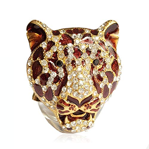 - AMind Leopard Car Accessories Car Aromatherapy Essential Oil Diffuser Diamond Locket with Vent Clip and Best Home Decoration Car Decoration Without Oil