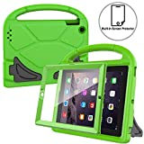 AVAWO Kids Case Built-in Screen Protector for iPad 2 3 4 (Old Model)- Shockproof Handle Stand Kids Friendly Compatible with iPad 2nd 3rd 4th Generation (Green)