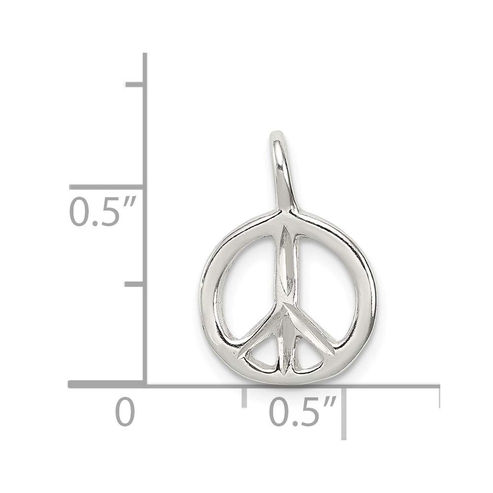 FB Jewels Solid Sterling Silver Peace Charm