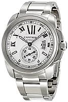 Cartier Men's W7100015 Calibre de Cartier Silver Opaline Dial Watch from Cartier