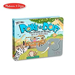 """The dots in the book go pop, pop, pop! Poke the irresistible click-to-count buttons to hear satisfying """"clicks"""" and """"pops"""" as you count all the animals you see on safari! This sturdy 20-page interactive board book invites kids to sing along t..."""