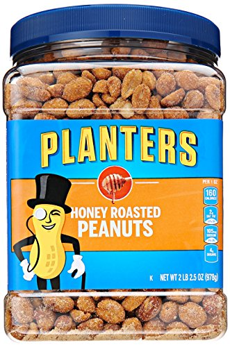 Planters Peanuts, Honey Roasted & Salted, 34.5 Ounce Jar