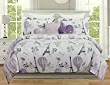 4-Piece TWIN PARIS/EIFFEL TOWER Comforter Set by Envogue Kids