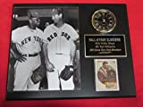Willie Mays Ted Williams Collectors Clock Plaque w/8x10 Photo and Card