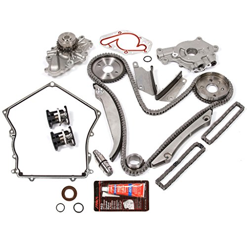 - Evergreen TKTCS5028HWOPT 02-06 Chrysler Dodge 2.7L EER V6 Timing Chain Kit Water Pump Oil Pump(NGC Cam Gear) Timing Cover Gasket