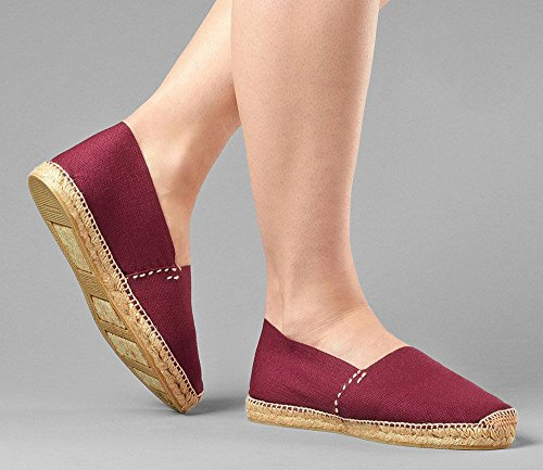 Burgundy in Men's Made Espadrilles Hand Women's DIEGOS Spain xgFRq0SwnX
