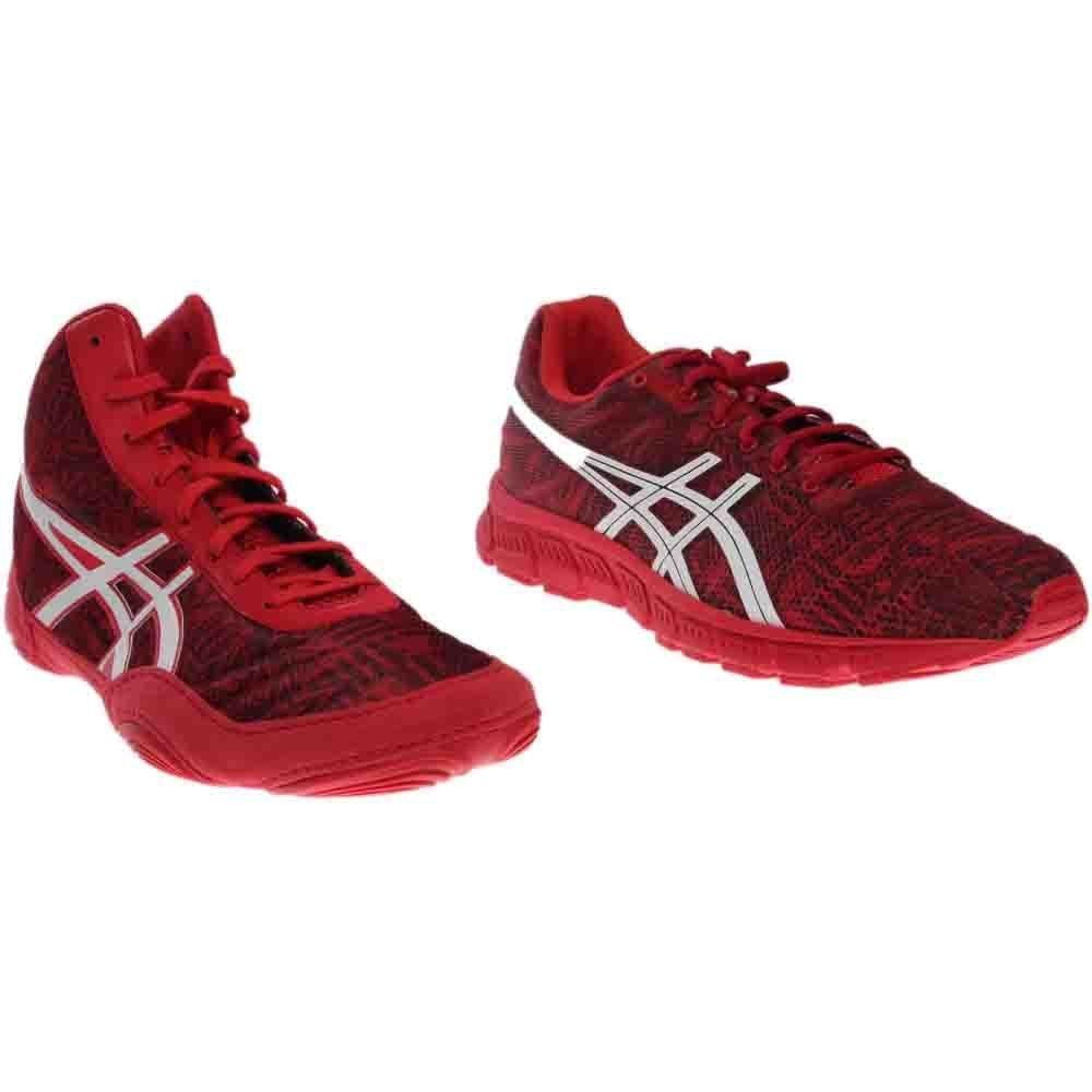 ASICS JB Elite All I See is Gold 2 Pack Mens Wrestling Shoe 9 Red-White-Crimson