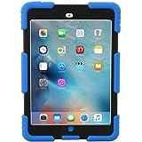 iPad Mini 1 2 3 Case ACEGUARDER Full Body Protective Premium Soft Silicone Cover Proof Case for iPad Mini 1 2 3 (Blue Black)