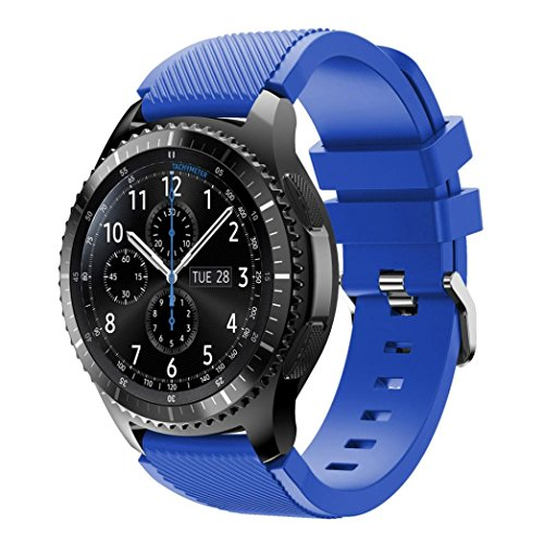 Price comparison product image Unisex Fashion Sports Silicone Bracelet Strap, Ninasill Exclusive Band For Samsung Gear S3 Frontier Watch Strap (Blue)
