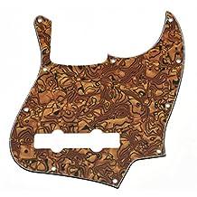 KAISH USA Spec Tiger Stripe 5 String Jazz J Bass Pickguard Scrach Plate Fits Fender