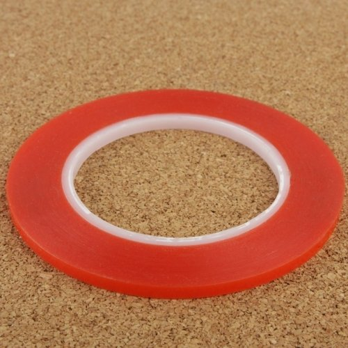 Lopurs 1mm 3M Red Double Sided Adhesive Sticker Tape for iPhone / Samsung / HTC Mobile Phone Touch (Touch Screen Cell Phones)