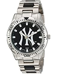 Game Time Mens Heavy Hitter  Metal and Alloy Quartz Analog  Watch, Color:Silver-Toned (Model: MLB-HH-NY3)