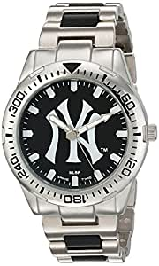 Game Time Men's 'Heavy Hitter'  Metal and Alloy Quartz Analog  Watch, Color:Silver-Toned (Model: MLB-HH-NY3)