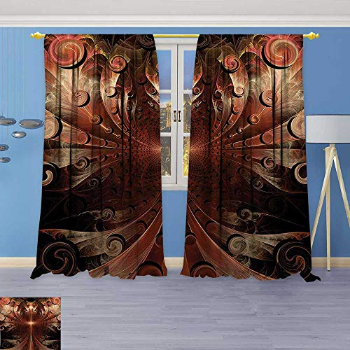 Philiphome Kitchen Decor Collection,Medieval Metallic Heraldic Ornate Background Middle Age Knight Aged Artwork Copper,Window Treatments for Kitchen Curtains 2 Panels