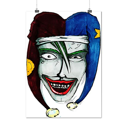 Smiling Scary Clown Joker Laugh Matte/Glossy Poster A2 (17x24 inches) | Wellcoda (Scary Smiling Clown)