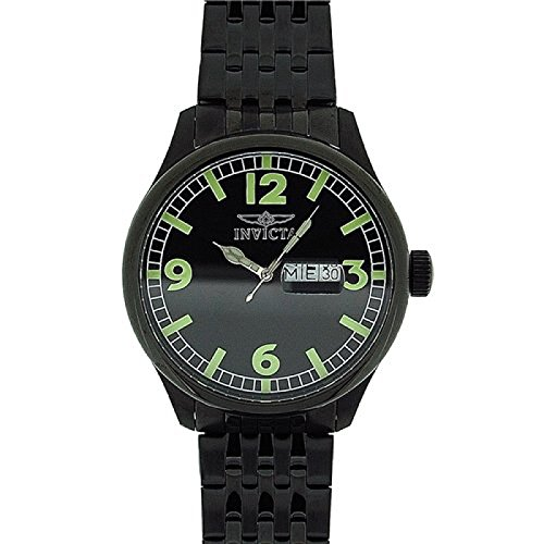Invicta 'Speciality' Gents Gun Metal Stainless Steel Day Date Watch INV0450