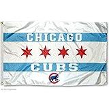 Chicago Cubs City of Chicago Logo Flag