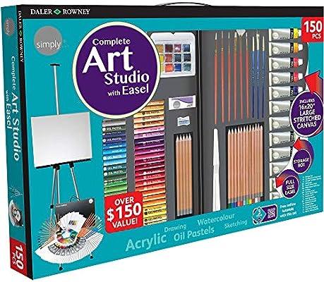 Daler Rowney Complete Art Studio With Easel 150 Pcs Buy