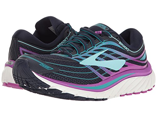 Brooks Women's Glycerin 15 Evening Blue/Purple Cactus Flower/Teal Victory 8 B US B (M)