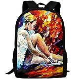Ballet Dancer Painting Fashion Outdoor Shoulders Bag Durable Travel Camping Backpack For Adult