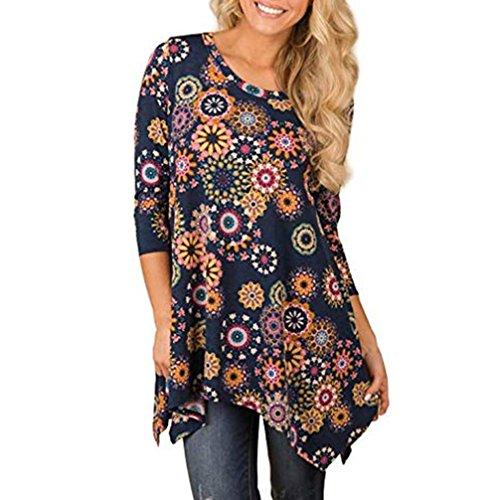 Imprime Blouse Longues Femme Manches Tops Jaune Shirt Bringbring 5n1xBqP