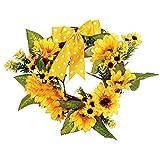 iumei Thanksgiving Decor Christmas Wreath Garland Sunflower Wreath Door Wall Garland
