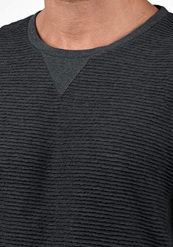 Herren Dunkelgrau solid Melange8288 Rico Sweatshirt Rundhalsausschnitt Sweatshirt Sweatshirt b7yfvY6g