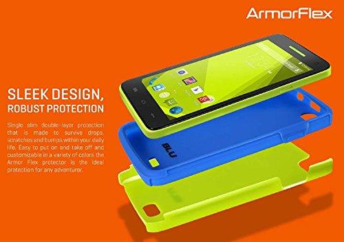 BLU Dash 5.5 D470 ArmorFlex Protective Case - Pink/Blue