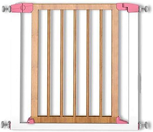 Cfbcc Escalera de la Puerta del Protector de la Puerta de Madera s Mascotas, Cerca del Perro Ampliable recinto de la Seguridad (Color : Pink): Amazon.es: Hogar