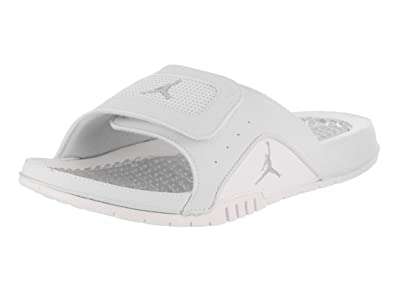 Nike Mens Jordan Hydro IV Retro Off WhiteMetallic Silver Sandal 8 Men US