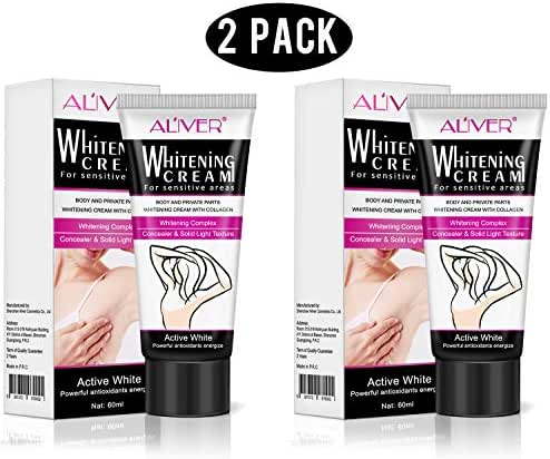 2 Pcs Whitening Cream,Natural Underarm Lightening & Brightening Deodorant Cream Armpit Whitening Body Creams Underarm Repair Between Legs Knees Private Part (whitening cream)