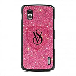Luxury Brand Logo funda Cover For Google Nexus 4 funda Victoria'S Secret VS Pink Skin funda