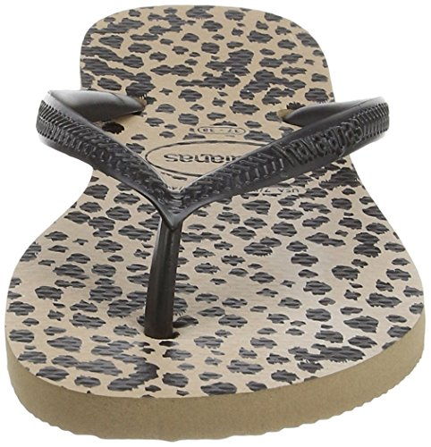 Havaianas Slim Animals, Chanclas para Mujer Multicolor (Rose Gold/Black 8429)