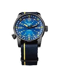 Traser P68 107719 Pathfinder Automatic Blue Swiss Watch, Blue/Yellow Nato Strap