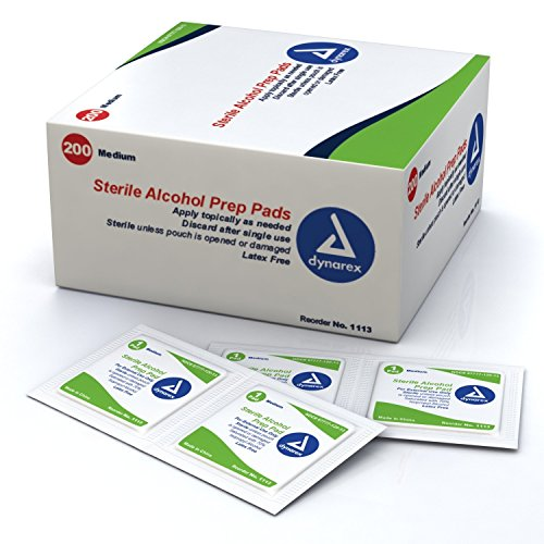 Alcohol Prep Pad, 2-23/64x1-3/16in, PK2000 ()