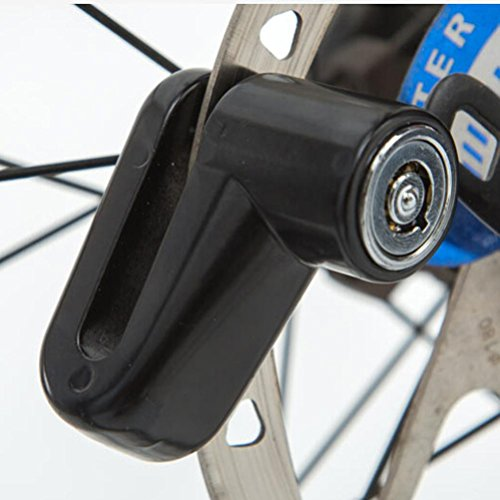 Price comparison product image Creazy Security Anti Theft Heavy Duty Motorcycle Bicycle Moped Scooter Disk Rotor Lock (Black)