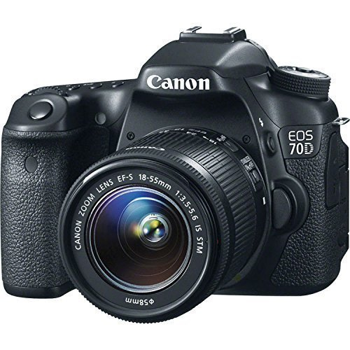 Canon EOS 70D 20.2 MP Digital SLR Camera with Dual Pixel CMOS AF Full HD 1080p Video with Movie and Canon EF-S 18-55mm F3.5-5.6 IS STM (Certified Refurbished)