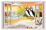 "Puffin Rock Nick Jr 3D WALL STICKER BEDROOM decor ART KIDS DECAL Window View 2 18"", 24""or 36"""