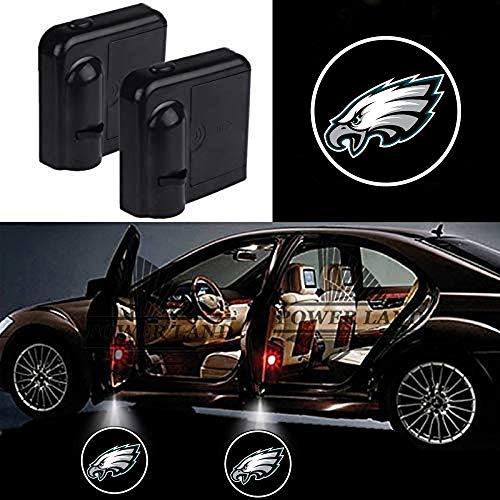 For Philadelphia Eagles Car Door Led Welcome Laser Projector Car Door Courtesy Light Suitable Fit for all brands of cars (Philadelphia Eagles) (Car Projector)
