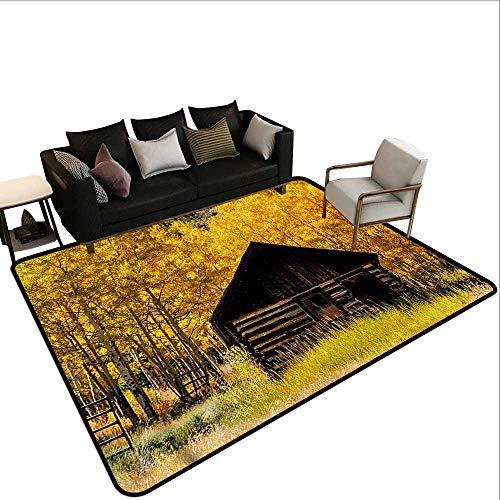 "Autumn,Rug Bathroom Mat 60""x 96"" Farmhouse in Aspen Tree American Floor mats"