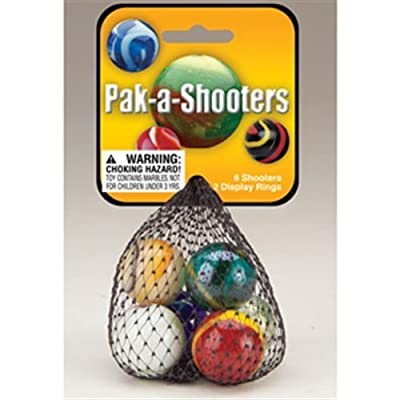 Mega Fun USA Pak-a-Shooters Marbles: Toys & Games