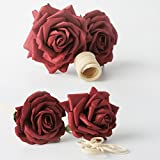 Plawanature Red Rose Mulberry Paper Flower Bouquet with Reed Diffuser for Home Fragrance. (2 Sets).