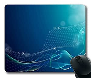 Aero Blue 8 Gaming Mouse Pad Personalized Hot Oblong Shaped Mouse Mat Design Natural Eco Rubber Durable Computer Desk Stationery Accessories Mouse Pads For Gift - Support Wired Wireless or Bluetooth Mouse