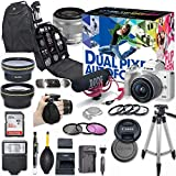 Canon EOS M50 Mirrorless Digital Camera with 15-45mm Lens Video Creator Kit (White) + Wide Angle Lens + 2X Telephoto Lens + Flash + SanDisk 32GB SD Memory Card + Accessory Bundle