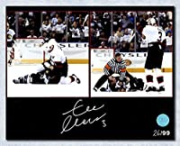 Zdeno Chara Ottawa Senators Autographed Fight vs Lecavalier 8x10 Photo #/99 - Autographed Hockey Photos