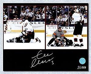 Zdeno Chara Ottawa Senators Autographed Fight vs Lecavalier 8x10 Photo #/99 - Autographed Hockey Photos