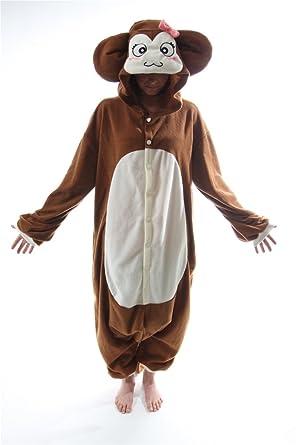2e26169396 Amazon.com  BCozy Monkey Adult Onesie Medium  Clothing
